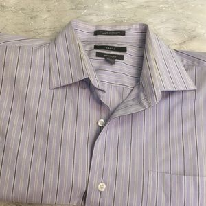 Striped modern fit casual shirt
